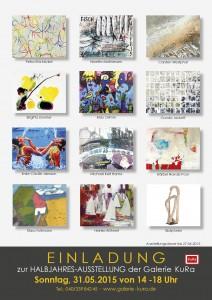 Halbjahres-Ausstellung der Galerie Kura am 31.05.2015 in der Harksheider Straße 6A, 22399 Hamburg