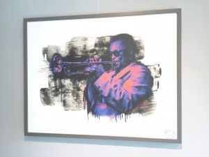 Mr.Brainwash - Miles Davis - Siebdruck signiert und nummeriert 90x70cm